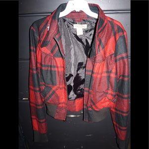 Jackets & Blazers - Red & black jacket